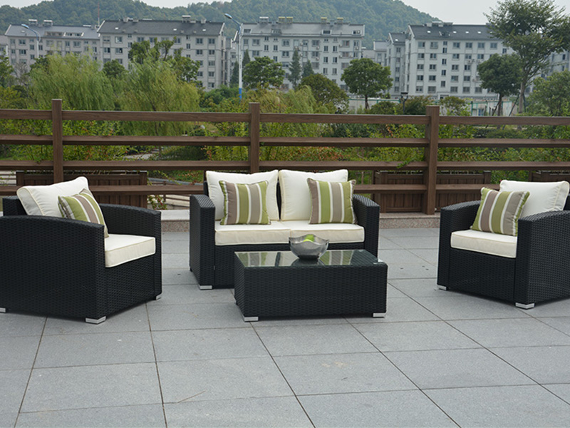 Outdoor wicker sofa sets furniture