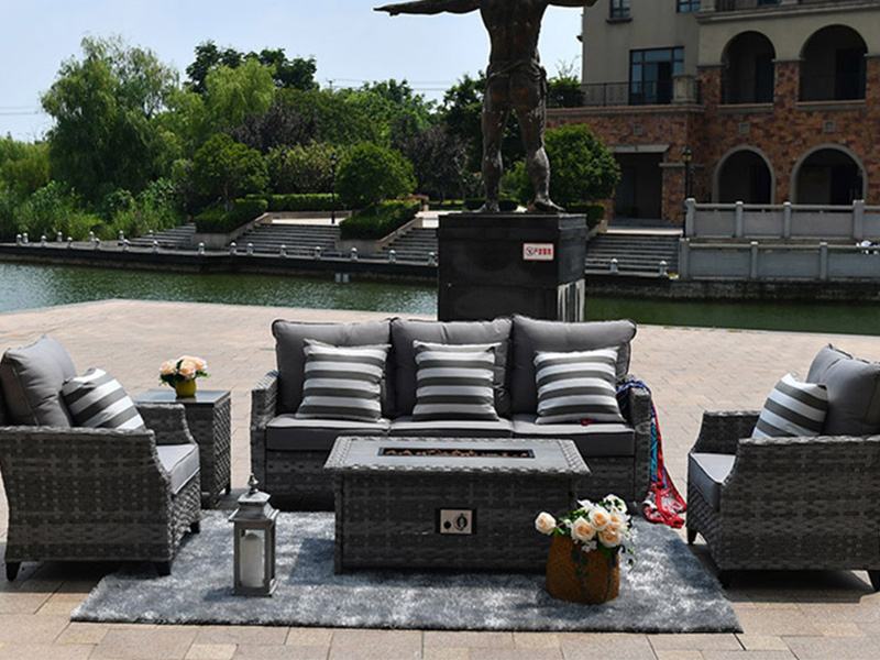 Wicker Outdoor Fire Pit Sofa Sets
